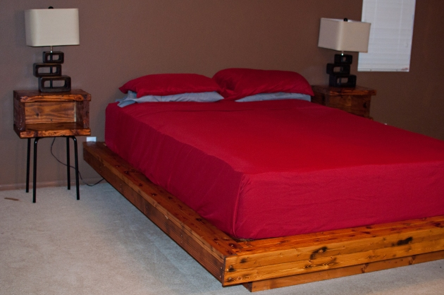 plans to build a queen size platform bed