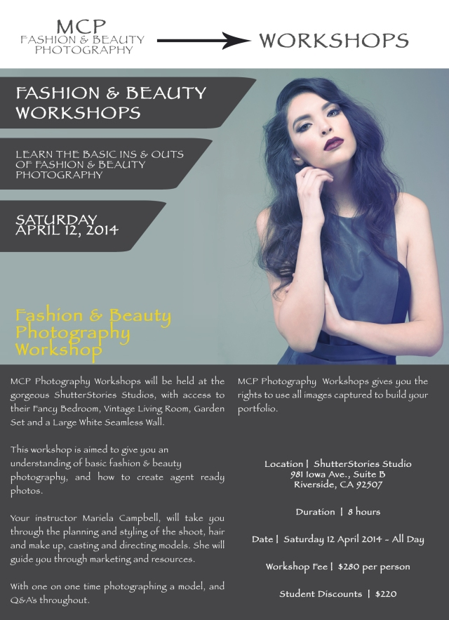 Fashion & Beauty Photography Workshop
